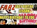 BAAR-BAAR DIN YE AAYE GUITAR CHORDS | HAPPY BIRTHDAY TO YOU GUITAR TUTORIAL  | FARZ | MOHAMMAD RAFI
