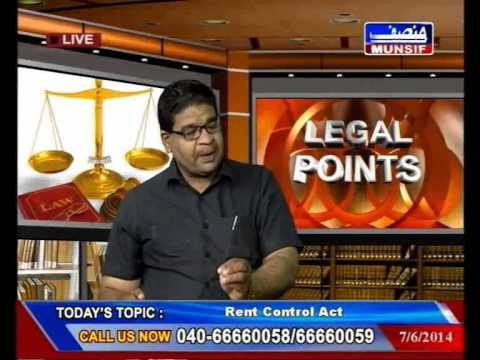 HYDERABAD Legal Point Live Rent Control Act