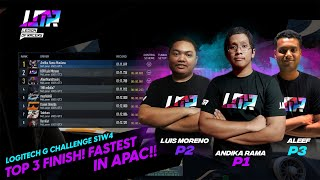 Top 3 finish for Team LOR esports in the APAC region for the Logitech Mclaren G Challenge S1W4!!