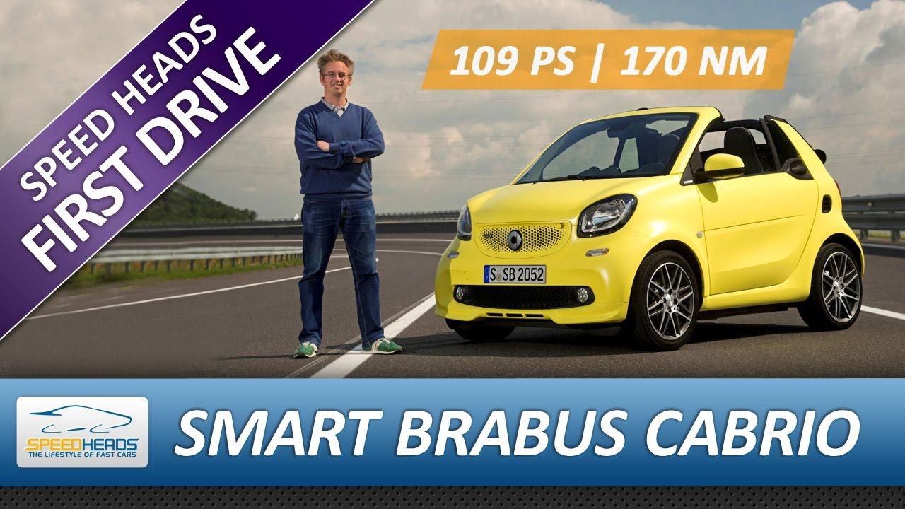 2017 smart brabus cabrio test 109 ps fahrbericht review youtube. Black Bedroom Furniture Sets. Home Design Ideas