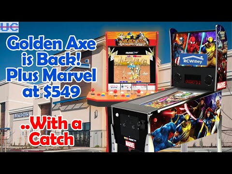 Golden Axe RESTOCK! Marvel Arcade1up Pinball Preorders but Shipping is $$$ from Unqualified Critics