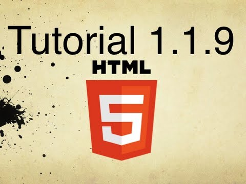 HTML5 Tutorial 1.1.9 | Specifying A Character Set