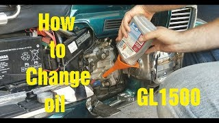 How to Change oil on a GL1500