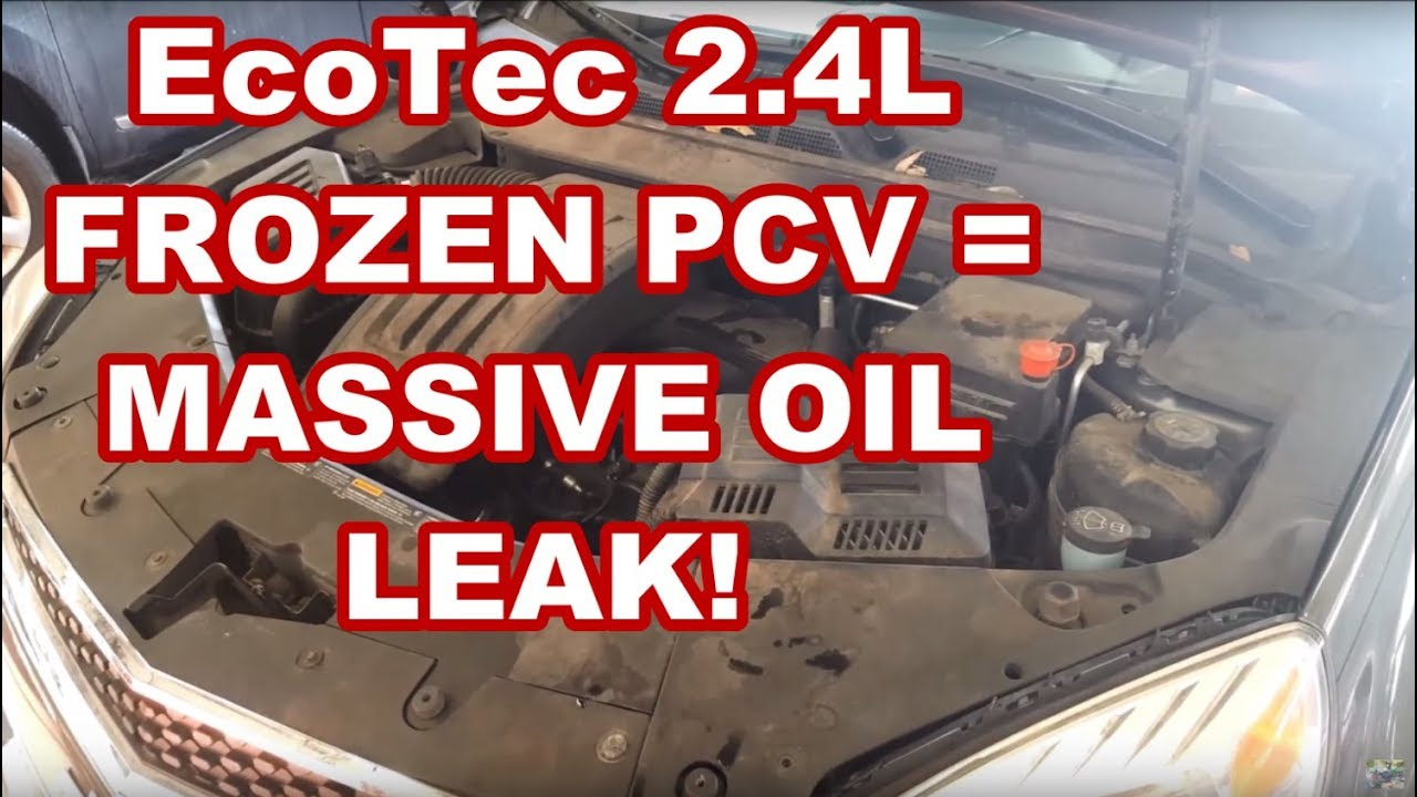 small resolution of gm ecotec 2 4l frozen pcv rear main seal blowout equinox terrain lacrosse oil leak
