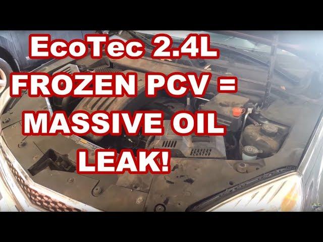 GM EcoTec 2 4L Frozen PCV = REAR MAIN SEAL blowout Equinox Terrain