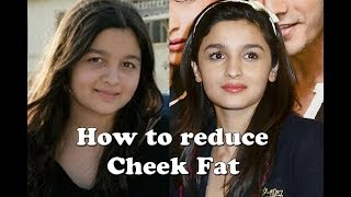 9 natural ways for cheek fat removal or cheek fat reduction || How to reduce face/cheek fat fast