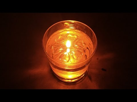 Ingenious Aromaglow floating oil burner disks.