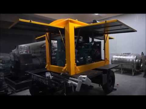 Starting Mobile Trailer Generator Set -  Genset Trial Operation