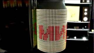 Гибкий светодиодный экран из смарт лент(Светодиодная конструкция содержит 33 светодиодных смарт ленты, 12 блоков питания и программируемый DMX-контро..., 2011-05-25T06:22:35.000Z)