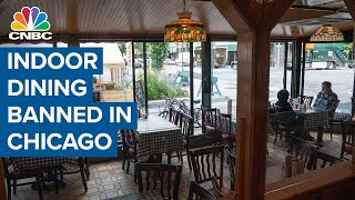 Indoor dining banned in Chicago