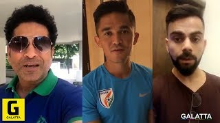 Sachin Tendulkar & Virat Kohli Request to all Fans | Sunil Chhetri | Support Indian Football Team