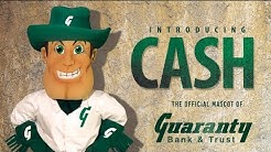 Introducing Cash, the official mascot of Guaranty Bank & Trust