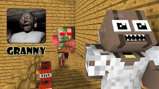 Monster School GRANNY HORROR GAME CHALLENGE Minecraft Animations