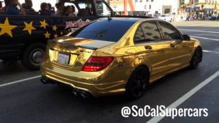 Chrome Gold Fake Mercedes C63  & $1 million Youabian Puma!