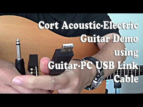 usb guitar link cable demo on cort acoustic electric guitar connect to pc youtube. Black Bedroom Furniture Sets. Home Design Ideas