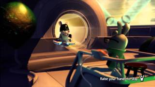 Raving Rabbids Alive and Kicking - Title Screen