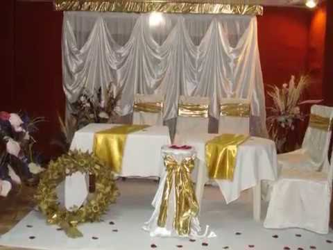 decoration mariage en dor e deco salles fetes organisatrice de fetes algerie nouri koufi. Black Bedroom Furniture Sets. Home Design Ideas