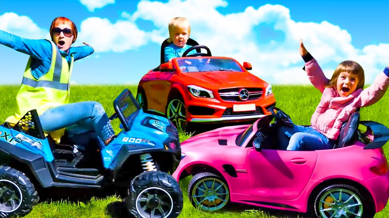 Kids pretend play with toy cars and toys - The Tow Truck song for kids.