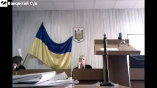 Спроба суду заборонити відеофіксацію адвокату Шалімову