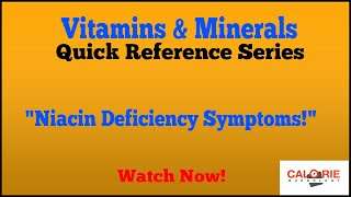 Niacin Deficiency Symptoms