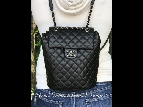 Chanel Backpack Reveal and Review!! - YouTube 43b05fe80710c