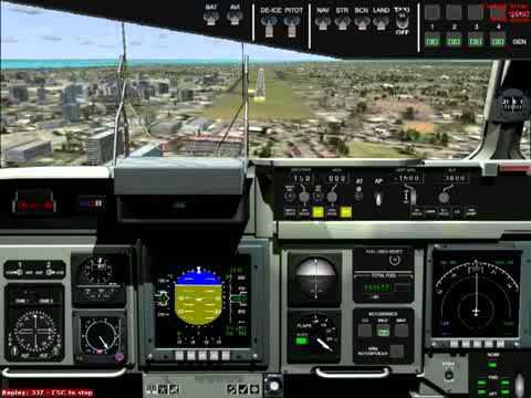 FSX- Globe Master 3 Boeing   C 17 Fernando de Noronha / Recife