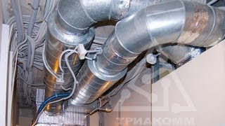 Вентиляция помещения дома, воздуховоды.(, 2013-05-06T13:34:29.000Z)