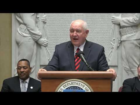 2017 Census Of Agriculture Data Release Event With Secretary Sonny Perdue