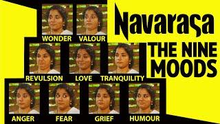 Navarasas Video - Nine moods, facial expressions, classical dance of India