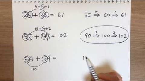 두자리수 더하기 두자리수 덧셈 암산 (초등수학)