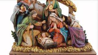 Wood-carved Look Nativity Scene