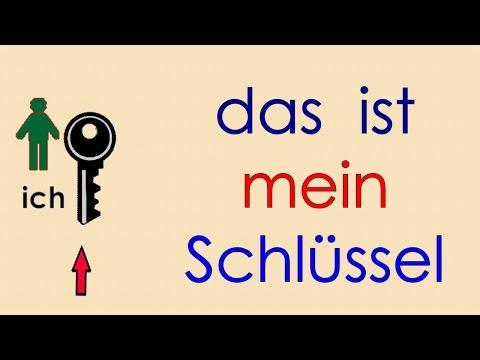 Deutsch lernen Grammatik  9: der - ein - kein - mein - dein ...