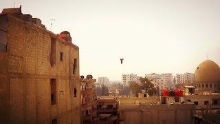 Nusra.Info: Асадиты сбрасывают с вертолета бочки TNT. Без комментариев