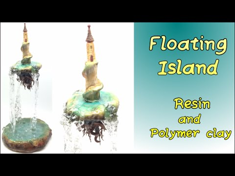Floating Island- Polymer clay and resin tutorial