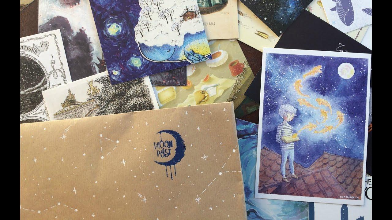 Открытки, лунная почтовая станция открытки