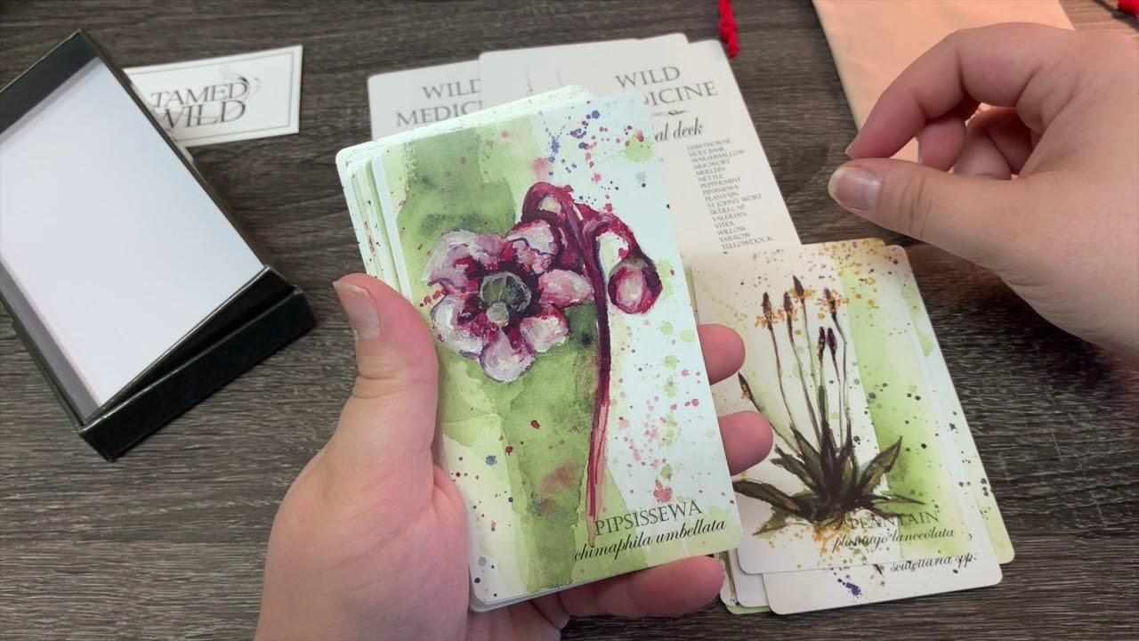 Wild Medicine Herbal Deck Unboxing! #Herbalmedicine