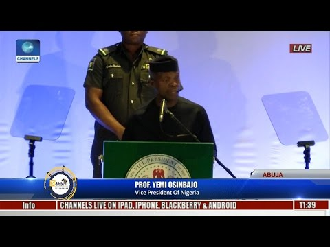 Osinbajo Unveils New NIMASA Logo,Urges Continental Collaboration To Develop Sector Pt 1