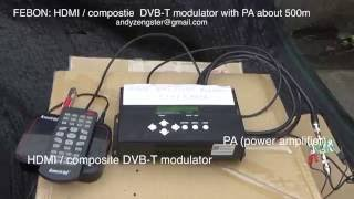 FEBON Wireless HDMI INPUT DVB-T Modulator  transmitter about 500m