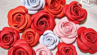 Embossed Mini Rolled Roses Tutorial