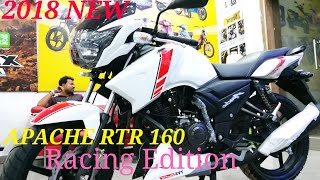 Gambar cover 2018 ALL NEW TVS APACHE RTR 160 RACING EDITION FULL WALKA AROUND REVIEW