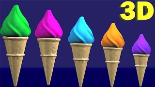 Learning Colors Ice Cream Cones Fun Toddlers Kids Babies Children Play Videos