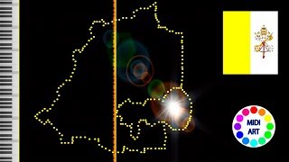Musical map of Vatican City -  midi art [drawing]