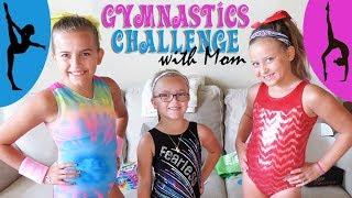 Gymnastics Challenge With Mom!   Crazy8Family