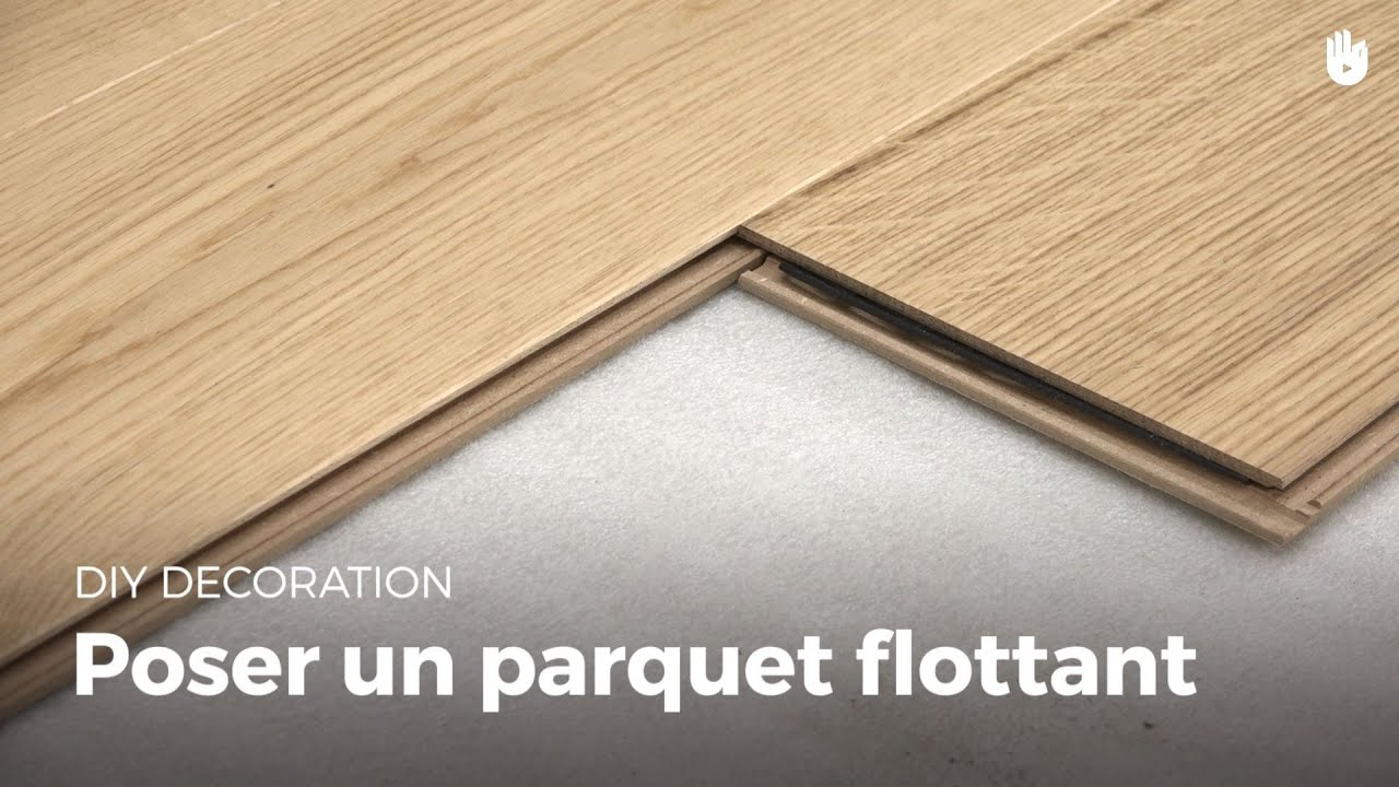 poser un parquet flottant bricolage youtube. Black Bedroom Furniture Sets. Home Design Ideas