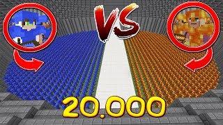 10.000 НУБОВ С БРОНЕЙ ИЗ ВОДЫ ПРОТИВ 10.000 НУБОВ БРОНИ ИЗ ЛАВЫ РОЛЕВАЯ ИГРА АРЕНА МОБОВ!