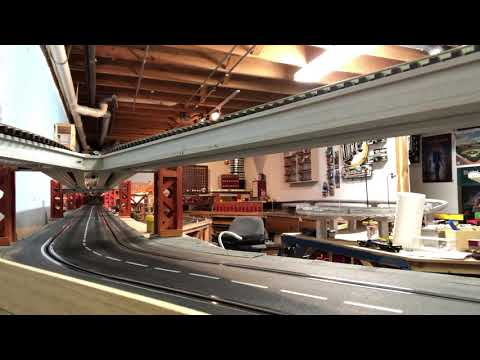 Carrera slot car track and MTH O gauge CTA