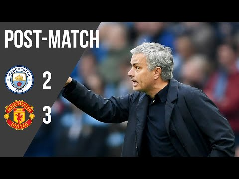 Jose Mourinho reacts to stunning Manchester United comeback win over Man City