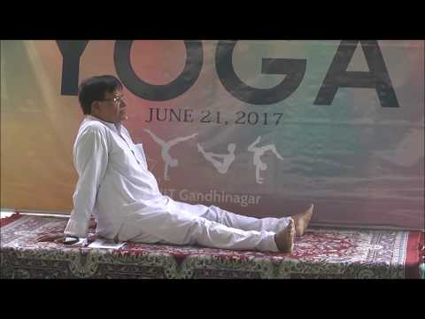 Glimpse of International Day of Yoga Celebration at IIT Gandhinagar | 21 June, 2017