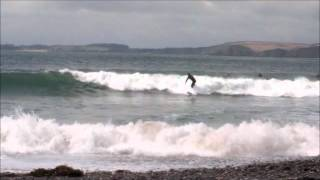Manorbier Castle and Beach (Surfers), Pembrokeshire
