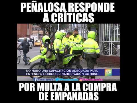 Peñalosa responde a críticas por multa a ciudadano por comprar una empanada